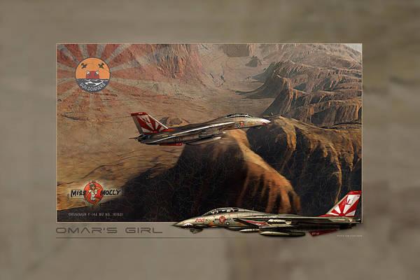 Cockpit Digital Art - Omars Girl Two by Peter Van Stigt
