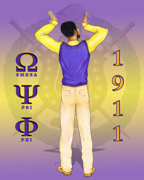 What Digital Art - Omega Psi Phi by BFly Designs