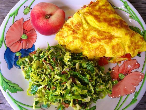 Photograph - Omelette With Brussels Sprout Slaw by Polly Castor