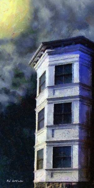 Painting - Ominous Night At Hexagon House by RC DeWinter