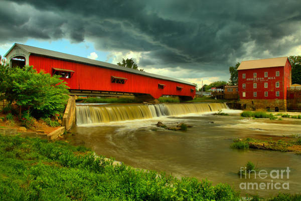 Wall Art - Photograph - Ominous Skies Over Bridgeton by Adam Jewell
