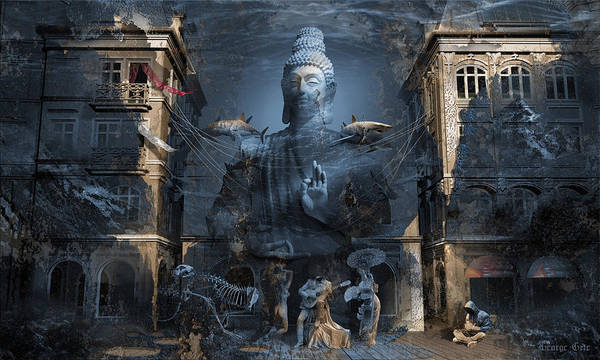 Ancient Architecture Digital Art - Omnipresence by George Grie