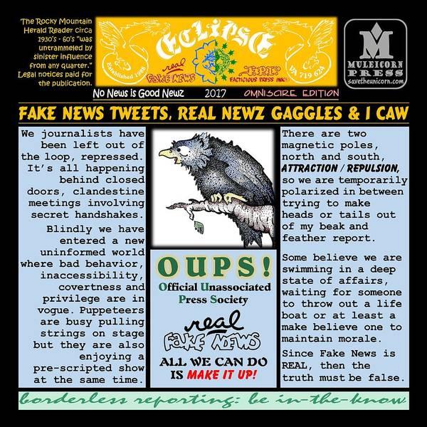 Digital Art - Omniscire Fake News Tweets by Dawn Sperry