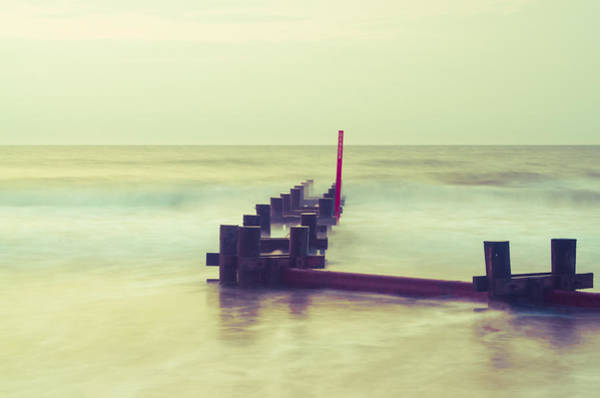 Jetti Wall Art - Photograph - On A Beach In Stone Harbor  by Bill Cannon