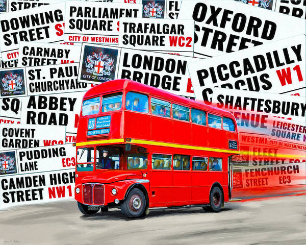 Photograph - On A Bus For London by Mark Tisdale