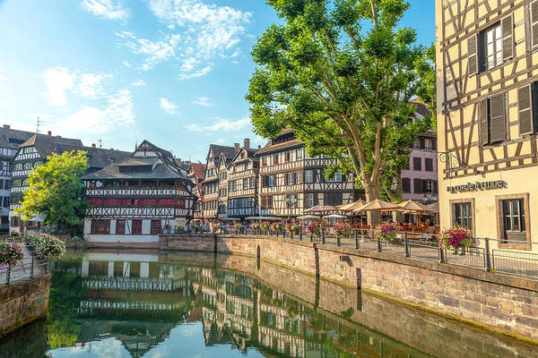 River Ill Wall Art - Photograph - On A Canal In Strasbourg France by W Chris Fooshee