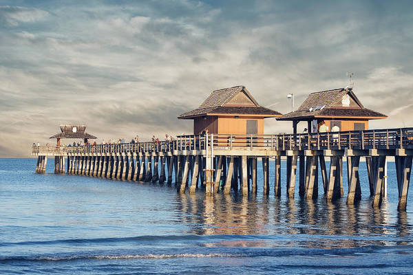 Photograph - On A Cloudy Day At Naples Pier by Kim Hojnacki