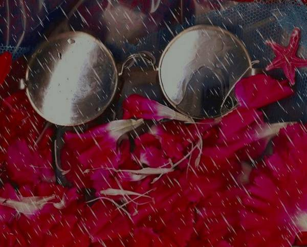 Outdoors Mixed Media - On A Rainy Day Its Fine To Be Inside by Pepita Selles