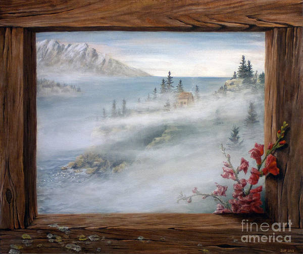 Snapdragons Painting - On An Island by Sarah Pederson