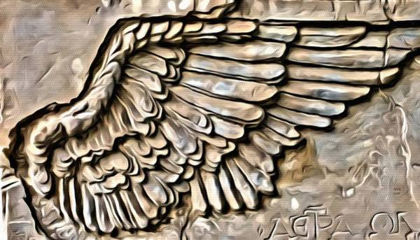 On Angels Wings Art Print