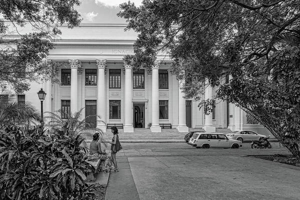 Photograph - On Campus Havana Black And White by Sharon Popek