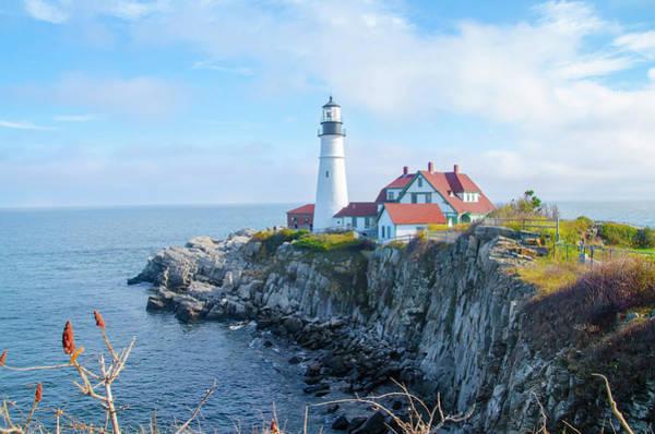 Photograph - On Cape Elizabeth - Portland Head Lighthouse - Maine  by Bill Cannon