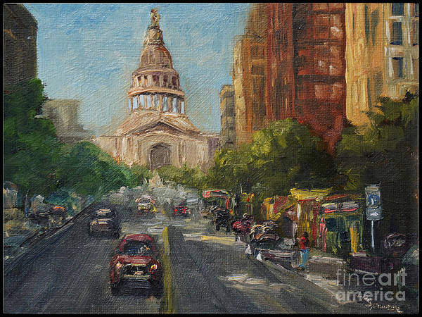 Wall Art - Painting - On Congress by Lisa Spencer