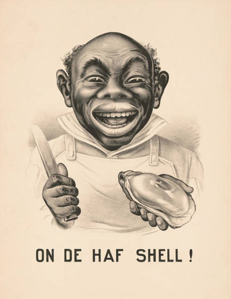 Cook Drawing - On De Half Shell - Vintage Currier And Ives Print by War Is Hell Store