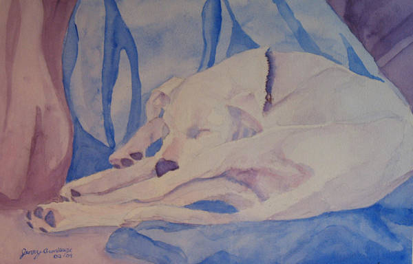 Mutt Painting - On Fallen Blankets by Jenny Armitage