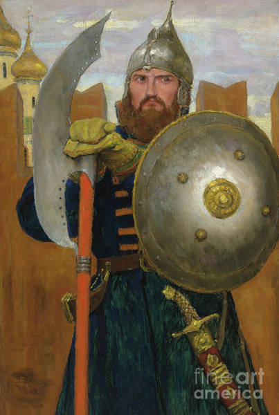 Wall Art - Painting - On Guard by Victor Mikhailovich Vasnetsov