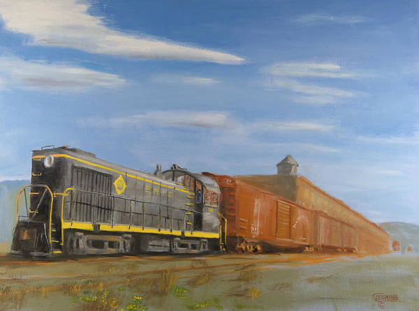 Wall Art - Painting - On Industry Track by Christopher Jenkins