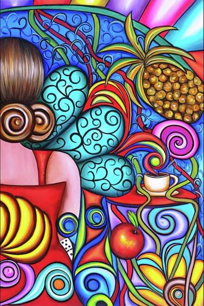 Wall Art - Painting - On My Mind by Annie Maxwell