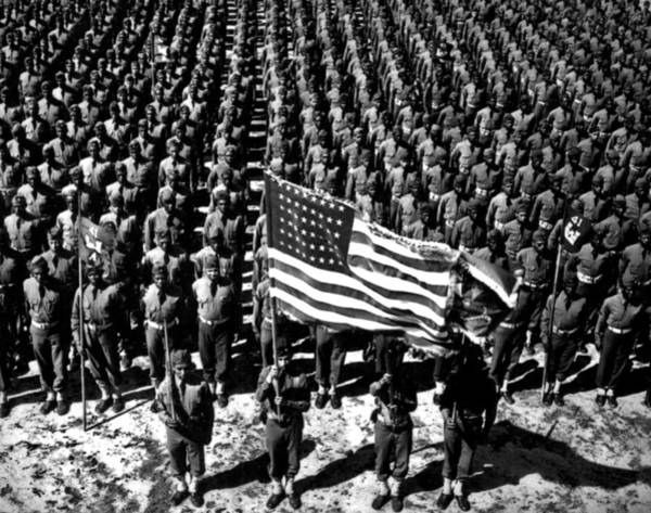Fort Bragg Photograph - On Parade by American School