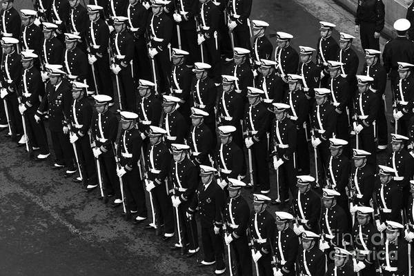 Photograph - Sailors On Parade by James Brunker