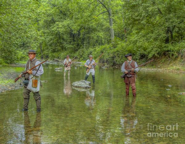 Musket Digital Art - On Patrol With Wulff's Rangers Junita Crossing by Randy Steele