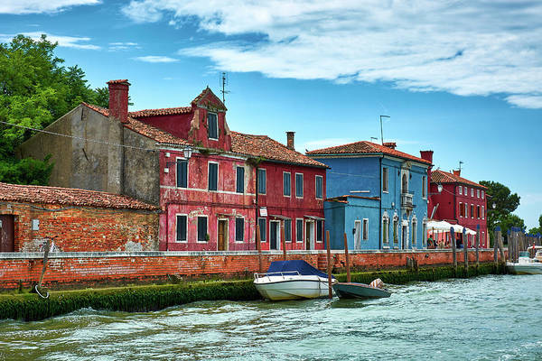 Photograph - Colorful Houses On The Sea In Venice, Italy by Fine Art Photography Prints By Eduardo Accorinti