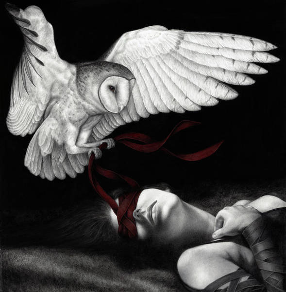 Surrealism Painting - On Silent Wings by Pat Erickson