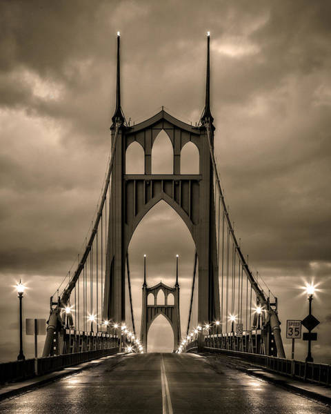 Photograph - On St Johns Bridge by Wes and Dotty Weber