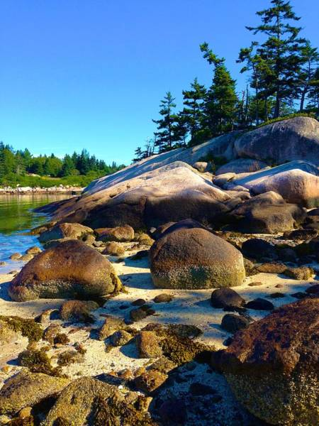 Photograph - On Stonington Beach Looking South by Polly Castor
