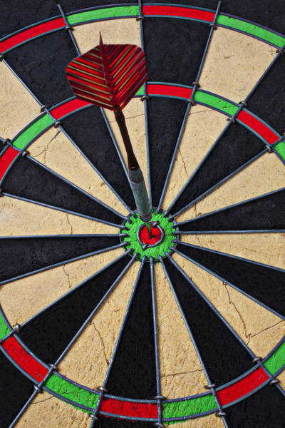 Throwing Wall Art - Photograph - On Target Bullseye by Garry Gay