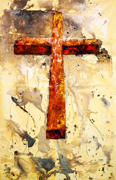 On That Old Rugged Cross Art Print