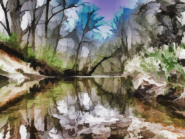 Aspect Digital Art - On The Bank by Tom Druin