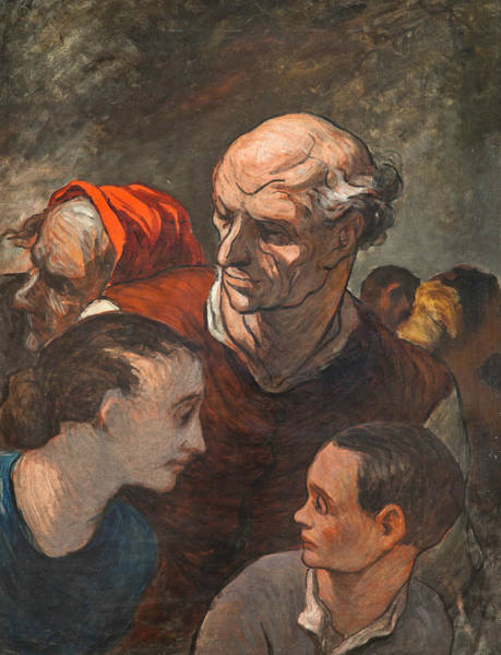 French Artist Drawing - On The Barricades by Honore Daumier