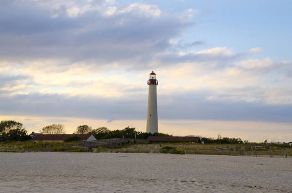 Cape May Lighthouse Photograph - On The Beach At Cape May Lighthouse by Bill Cannon