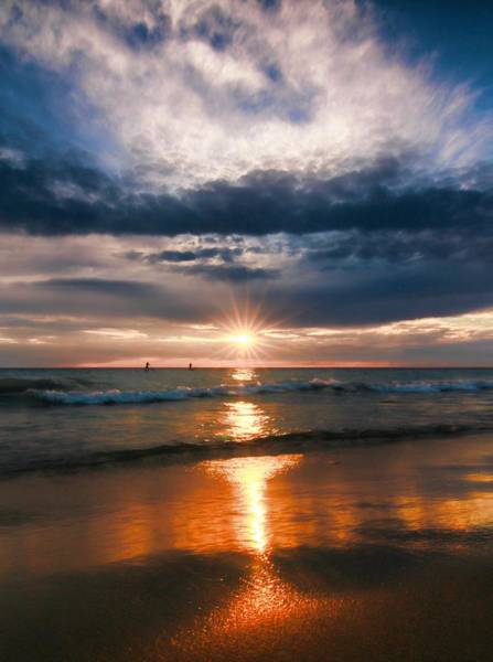 Photograph - On The Beach At Sunset by Dan Sproul