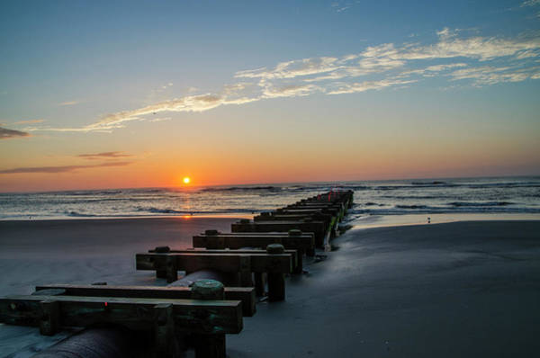 Storm Drain Photograph - On The Beach - Nj by Bill Cannon