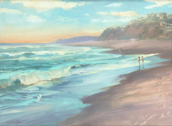 Oregon Coast Wall Art - Painting - On The Beach by Steve Henderson