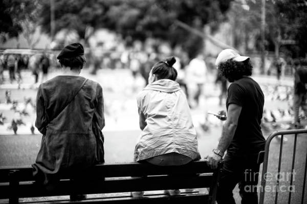 Photograph - On The Bench Barcelona by John Rizzuto