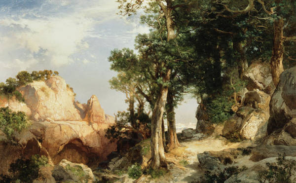 Wall Art - Painting - On The Berry Trail  Grand Canyon Of Arizona by Thomas Moran