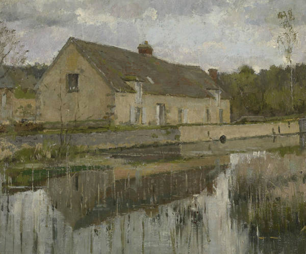 Painting - On The Canal by Theodore Robinson