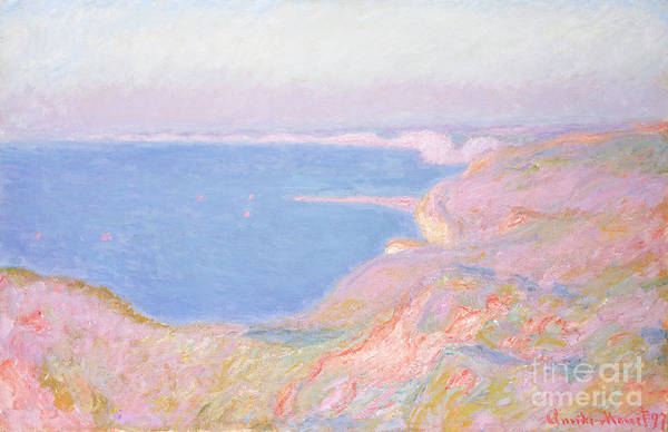 1897 Painting - On The Cliffs Near Dieppe, Sunset, 1897 by Claude Monet