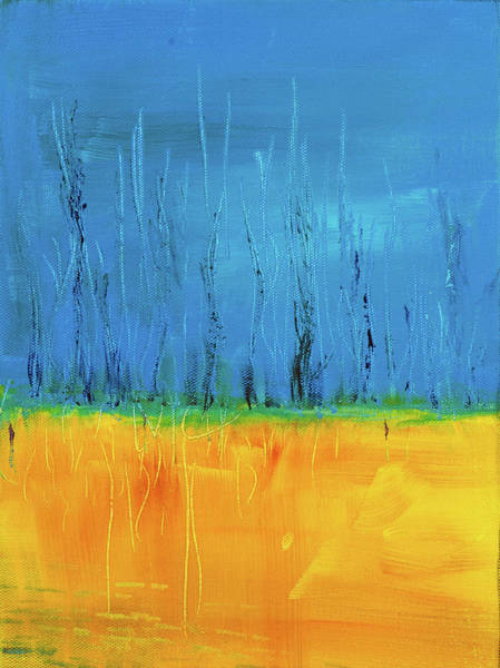 Blue Painting - On The Edge 2 by Brad Wieland