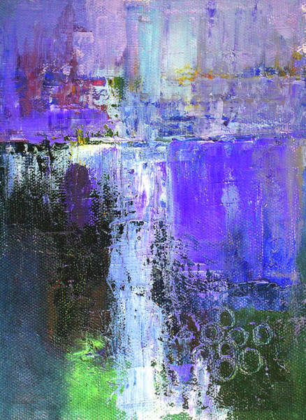 Wall Art - Painting - On The Edge by Nancy Merkle