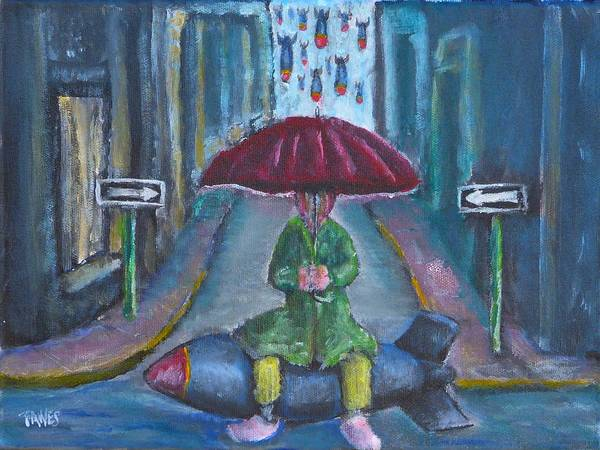 On The Edge Of Rainy Days And Mondays Art Print