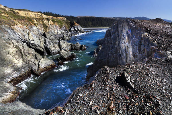 Rogue River Wall Art - Photograph - On The Edge Of The Blue Lagoon by Debra and Dave Vanderlaan