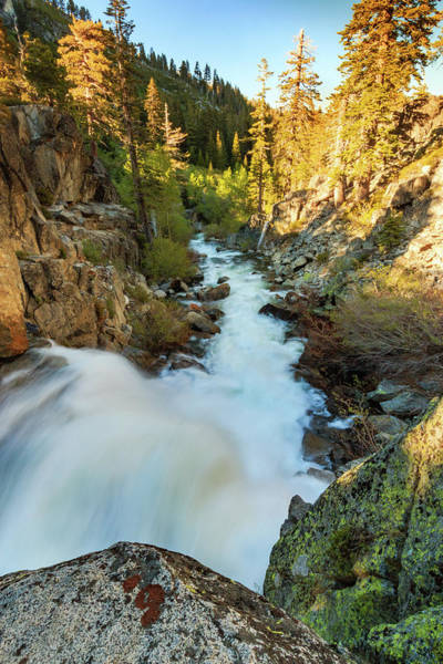 Lightroom Photograph - On The Edge Of Upper Eagle Falls by Mike Herron