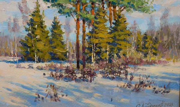 Painting - On The Edge Of Winter by Valentina Kondrashova