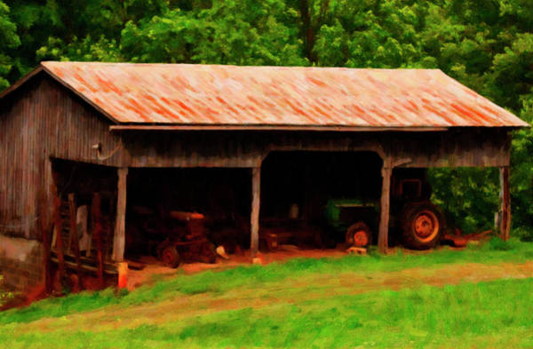 Shed Digital Art - On The Farm by Chris Flees