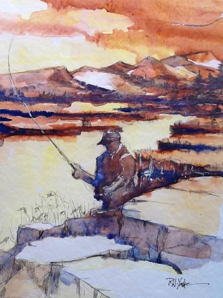 Firehole River Wall Art - Painting - On The Firehole River by Robert Yonke