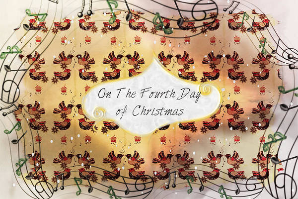 Digital Art - On The Fourth Day Of Christmas by Sherry Flaker